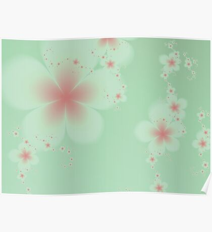 Pink and White Blossoms Poster