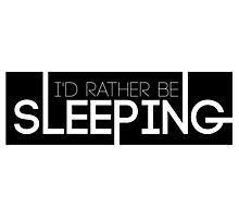 BTS/Bangtan Sonyeondan - I'd Rather Be Sleeping Photographic Print