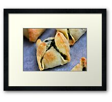 Delicious Pastry With Spinache Framed Print