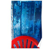 Blue and Red Poster