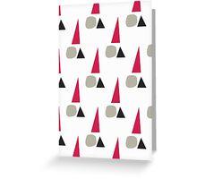 Minimal Santa claus christmas-grey Greeting Card
