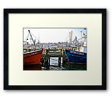 Sitting By the Dock of the Bay... Framed Print