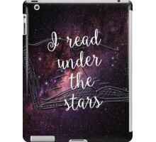 I read under the stars iPad Case/Skin