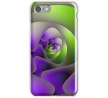 Spiral Labyrinth in Green and Purple iPhone Case/Skin