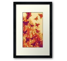 Burnt Orange Butterflies Framed Print