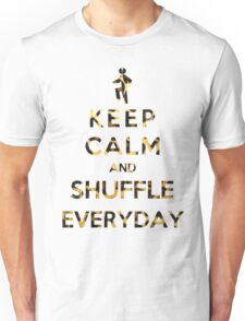 Keep Calm And Shuffle Everyday Leopard Unisex T-Shirt