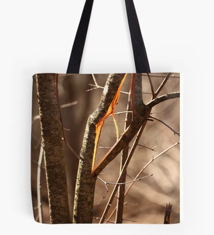 Saw Tree was 'Broke' this way Tote Bag