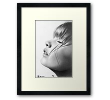 I Like the Warmth of the Sun on My Face Framed Print