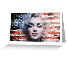 A Marilyn Flag Greeting Card