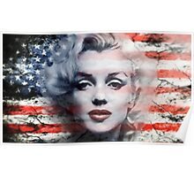 A Marilyn Flag Poster