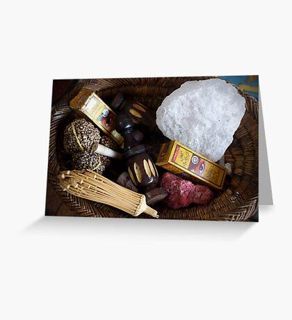 herbal cosmetics Greeting Card