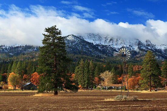 Autumn Windmill At Thompson Peak by James Eddy
