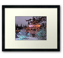 Christmas Bandstand Framed Print