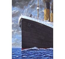 Titanic at sea full speed ahead Photographic Print