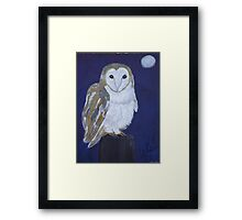 On The Hunt - Barn Owl Framed Print