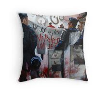 Protests in Paris Fragmented Throw Pillow