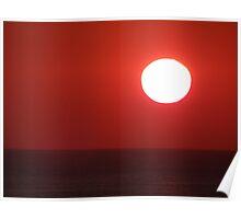Bright Shining Sun - Red Sky  -  Sol Brillante - Cielo Rojo Poster
