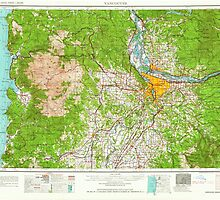 USGS Topo Map Washington State WA Vancouver 244445 1964 250000 by wetdryvac