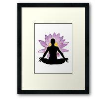 Yoga Lotus Pose - Meditation  Framed Print
