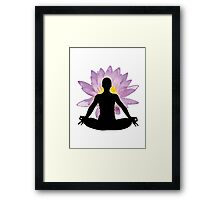 Yoga Lotus Pose - Meditation  Framed Print
