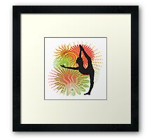 Yoga Dancer Pose Framed Print