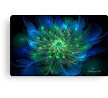 Peacock Bloom Canvas Print