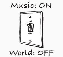 Music On World Off One Piece - Short Sleeve