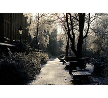 University of Glasgow in winter Photographic Print