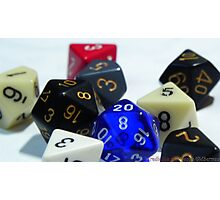 RPG Dices Photographic Print