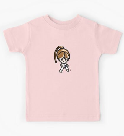 Martial Arts/Karate Girl - Front punch Kids Tee