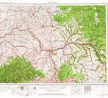 USGS Topo Map Washington State WA Pullman 243312 1955 250000 by wetdryvac