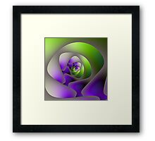 Spiral Labyrinth in Green and Purple Framed Print