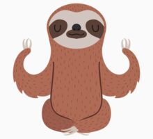 Sloth doing yoga Kids Tee