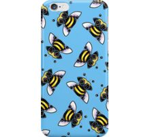 Pug-a-Bee {blue} iPhone Case/Skin