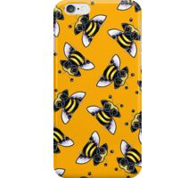 Pug-a-Bee {orange} iPhone Case/Skin