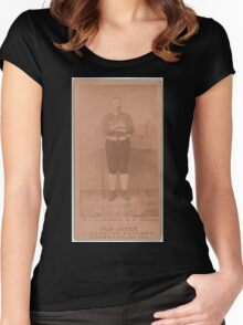 Benjamin K Edwards Collection Ned Williamson Chicago White Stockings baseball card portrait 003 Women's Fitted Scoop T-Shirt