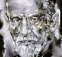 SIGMUND FREUD - watercolor portrait.7 by lautir
