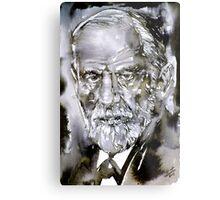 SIGMUND FREUD - watercolor portrait.7 Metal Print