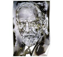 SIGMUND FREUD - watercolor portrait.7 Poster