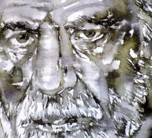 SIGMUND FREUD - watercolor portrait.7 Sticker