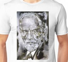 SIGMUND FREUD - watercolor portrait.7 Unisex T-Shirt