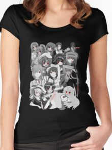 Anime manga yandere and psycho characters Women's Fitted Scoop T-Shirt