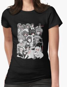 Anime manga yandere and psycho characters Womens Fitted T-Shirt