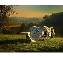 Covered Civil War canon and limber Photographic Print