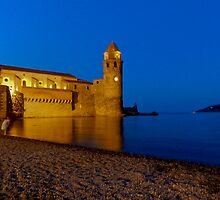 Collioure at night! by Marie Moriscot