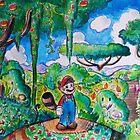 Raccoon Mario Watercolor by SaradaBoru