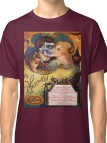 Embracing Death (Vintage Halloween Card) Classic T-Shirt