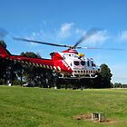 Helimed 5 -  lift-off from Traralgon,Gippsland by Bev Pascoe
