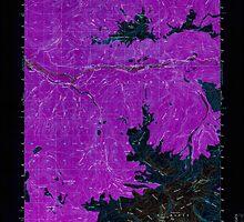 USGS Topo Map Washington State WA Mt Baker 242739 1952 62500 Inverted by wetdryvac