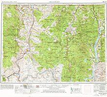 USGS Topo Map Washington State WA Okanogan 239715 1954 250000 by wetdryvac